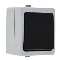 Венеция Выключатель кнопочный 10А IP54 серый EKF