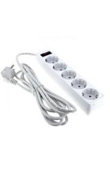 Сетевой фильтр 6*3м 10А/2,2 кВт с выкл. c/з ПВС 3х0,75 Блокбастер EKF PROxima