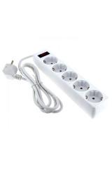 Сетевой фильтр 6*1,8м 10А/2,2кВт с выкл. c/з ПВС 3х0,75 Блокбастер EKF PROxima