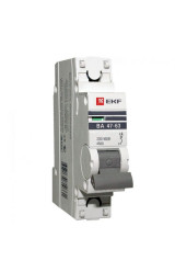 Автоматический выключатель 1P  1А (C) 4,5kA ВА 47-63 EKF PROxima