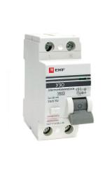Устройство защитного отключения УЗО ВД-100 2P   25А/ 30мА (электромеханическое) EKF PROxima