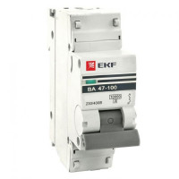 Автоматический выключатель 1P  10А (C) 10kA ВА 47-100 EKF PROxima
