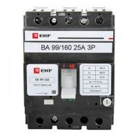 Выключатель автоматический ВА-99  160/ 25А 3P 35кА EKF PROxima