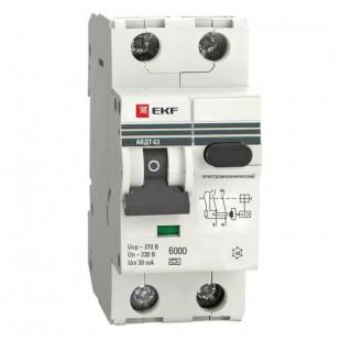 Дифференциальный автомат АВДТ-63 40А/ 30мА (характеристика C, эл-ех тип A) 6кА EKF PROxima