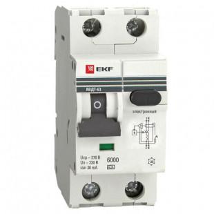 Дифференциальный автомат АВДТ-63 40А/ 30мА (хар-ка C, электронный тип A) 6кА EKF PROxima