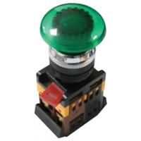 Кнопка AELA-22 зеленая с подсветкой NO+NC 24В EKF PROxima