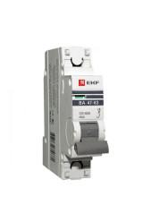 Автоматический выключатель 1P 16А (C) 4,5kA ВА 47-63 EKF PROxima