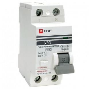 Устройство защитного отключения УЗО ВД-100 2P  16А/ 30мА (электромеханическое) EKF PROxima