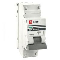 Автоматический выключатель 1P  10А (D) 10kA ВА 47-100 EKF PROxima