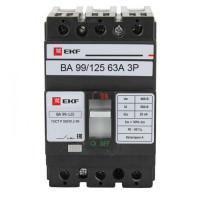 Выключатель автоматический ВА-99  125/ 63А 3P 25кА EKF PROxima