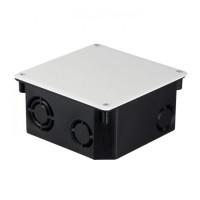 Коробка распаячная КМТ-010-006 с крышкой для твердых стен (107х107х50) с саморезами IP20 EKF PROxima