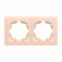 Валенсия рамка 2-местная кремовая EKF PROxima