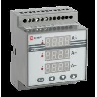 Амперметр AD-G33 цифровой на DIN трехфазный EKF PROxima