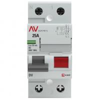 (УЗО) Устройство защитного отключения DV 2P  25А/ 30мА (A) EKF AVERES