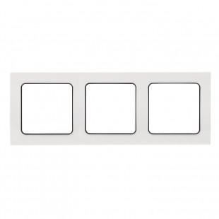Стокгольм Рамка 3-местная белая с линией цвета черный EKF PROxima