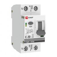Устройство защиты от дугового пробоя 1P+N 20А (C) 6 кА УЗДП EKF PROxima