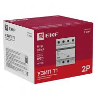 Устройство защиты от импульсных перенапряжений Тип 1 Iimp 25kA (10/350μs) 2P EKF