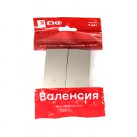Валенсия лицевая панель выключателя 2-кл. проходного 10А кашемир EKF PROxima