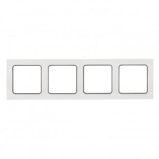 Стокгольм Рамка 4-местная белая с линией цвета черный EKF PROxima