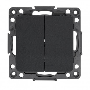 Стокгольм Механизм  Выключателя 2-кл. проходного 10А черный EKF PROxima