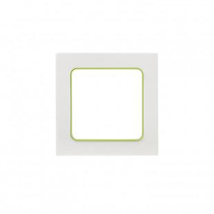 Стокгольм Рамка 1-местная белая с линией цвета зеленый EKF PROxima
