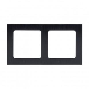 Стокгольм Рамка 2-местная металлическая черная  EKF PROxima