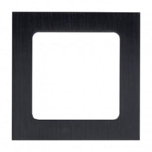 Стокгольм Рамка 1-местная металлическая черная  EKF PROxima