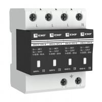 Ограничитель импульсных напряжений ОПВ-B/4P In 30кА 400В с сигн. EKF PROxima