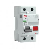 (УЗО) Устройство защитного отключения DV 2P  25А/ 10мА (AC) EKF AVERES