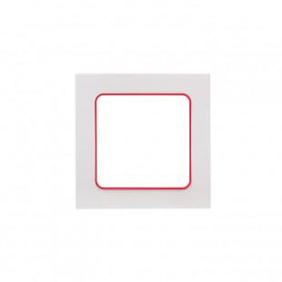 Стокгольм Рамка 1-местная белая с линией цвета красный EKF PROxima