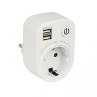 Розеточный блок SB-01 (розетка 2P+E 16А, 2 USB разъема 5V 2,1A) EKF PROxima